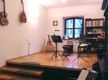 Unterrichtsraum der Gitarrenschule
